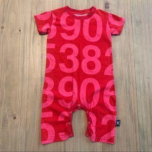 Nununu | Red & Pink Numbers Romper